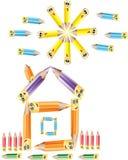 Het huis van het potlood Stock Afbeelding