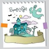 Het huis van het spook stock illustratie