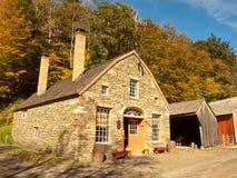 Het huis van het steenlandbouwbedrijf Royalty-vrije Stock Foto