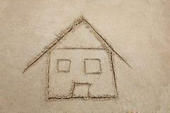 Het huis van het strand royalty-vrije stock foto's