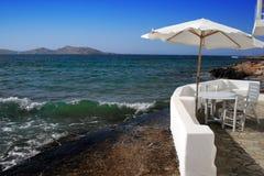 Het huis van het strand op Paros, Griekenland Royalty-vrije Stock Foto's