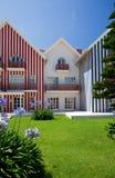 Het huis van het strand in Portugal Stock Fotografie