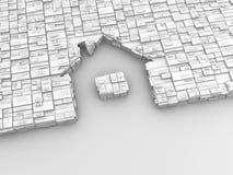 Het Huis van het teken als pijl vector illustratie