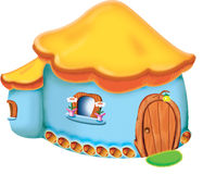 Het huis van het verhaal Royalty-vrije Illustratie