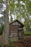 Het huis van het wildernisplattelandshuisje Stock Fotografie