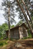 Het huis van het wildernisplattelandshuisje Royalty-vrije Stock Foto