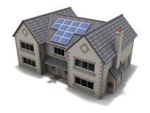Het Huis van het zonnepaneel Stock Foto