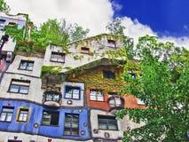 Het Huis van Hundertwasser in Wenen Royalty-vrije Stock Foto's