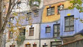 Het Huis van Hundertwasser in Wenen, Oostenrijk Royalty-vrije Stock Afbeeldingen