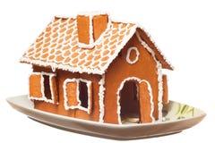 Het huis van Kerstmis gingernut Stock Fotografie