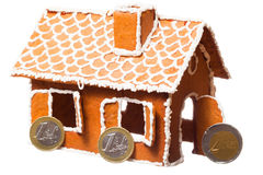 Het huis van Kerstmis gingernut Stock Afbeelding