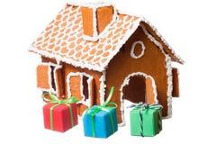 Het huis van Kerstmis gingernut Royalty-vrije Stock Afbeeldingen