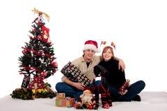 Het huis van Kerstmis van het paar stock afbeelding
