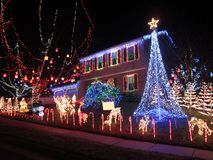 Het Huis van Kerstmis van Springfield Virginia Stock Fotografie