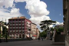Het huis van Madrid Spanje op het vierkant royalty-vrije stock fotografie