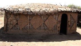 Het huis van Masai Royalty-vrije Stock Afbeeldingen