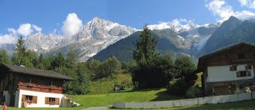 Het huis van Moutain in Chamonix Royalty-vrije Stock Fotografie