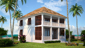 Het huis van Nice stock illustratie