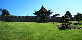Het huis van Nice in Aziatische stijl stock afbeelding