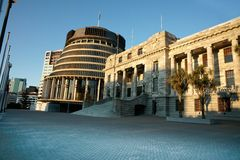 Het huis van Nieuw Zeeland van Overheid. Royalty-vrije Stock Afbeelding