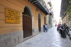 Het huis van Paolo Borsellino's - Palermo stock afbeelding