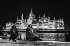 Het huis van het Parlement in Boedapest, Hongarije stock foto's