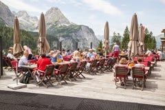 Het Huis van restauranttirol in Ehrwald Stock Afbeeldingen