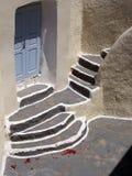 Het huis van Santorini stock foto's