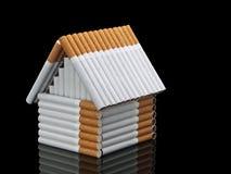 Het huis van sigaretten Stock Afbeelding