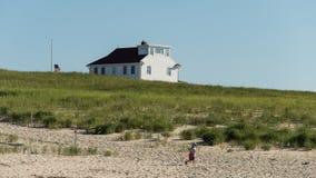 Het Huis van het strand in de Zomer Royalty-vrije Stock Foto