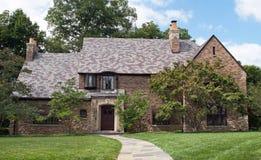 Het Huis van Tan Brick & van de Steen Royalty-vrije Stock Foto's