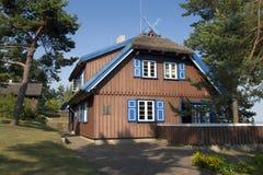 Het huis van Thomas Mann in Nida Stock Afbeeldingen