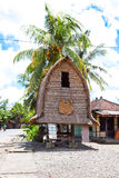 Het huis van traditionele Lombok stock foto