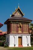 Het huis van Tripitaka, Wat Hua Kwang, Nan Thailand Stock Foto's