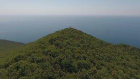 Het huis van yoga in de bergen, de Zwarte Zee, de bergen, de Kaukasus, abrau-Dyurso stock videobeelden
