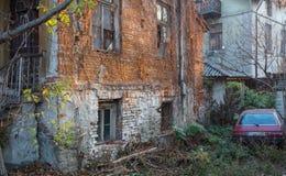 Het huis verfraaide lantaarns in oude stad Veliko Tarnovo, Bulgarije Royalty-vrije Stock Foto