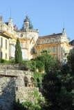 Het huis waar de beroemde schrijver Hermann Hesse leefde Stock Foto