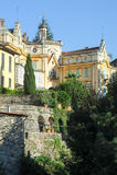 Het huis waar de beroemde schrijver Hermann Hesse leefde Stock Fotografie