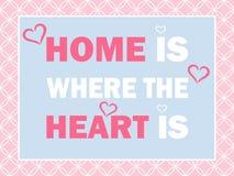 Het huis is waar het hart is Royalty-vrije Stock Fotografie