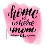 Het huis is waar het Mamma is stock illustratie