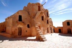 Het huis in woestijn Royalty-vrije Stock Afbeeldingen