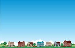 Het huisachtergrond van de voorstad Stock Fotografie