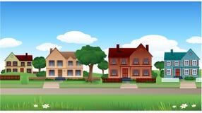 Het huisachtergrond van de voorstad Royalty-vrije Stock Afbeeldingen