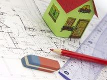 Het huisconcept van de bouw Stock Fotografie