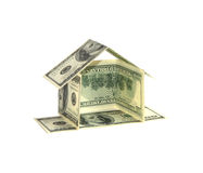 Het huisconcept van de dollar Stock Foto's