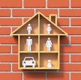 Het huisconcept van de familie stock illustratie