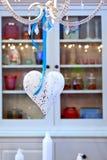 Het huisdecoratie van het hart Stock Foto