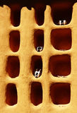 Het huisdetail van Dogon Stock Foto's