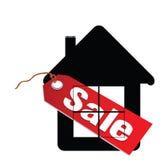 Het huisillustratie van het verkoopetiket vector illustratie