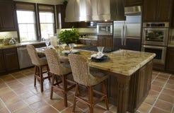 Het huiskeuken van de luxe. Stock Afbeeldingen